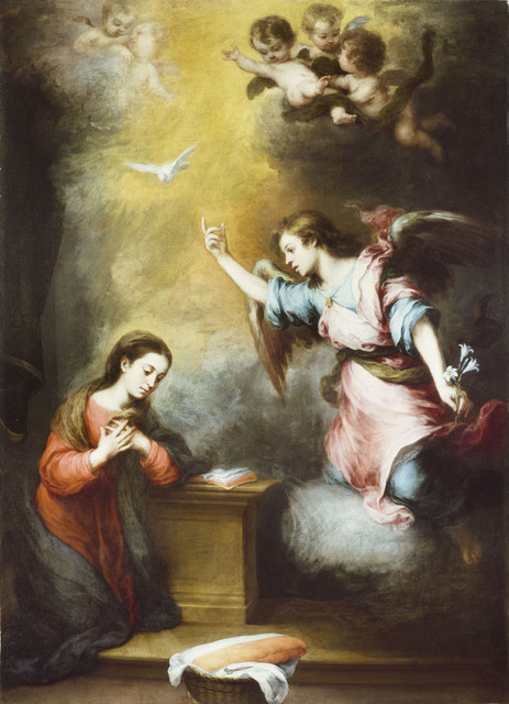 Bartolomé- Esteban Murillo, The Annunciation,c.1665-c.1670 By kind permission of the trustees of the Wallace Collection
