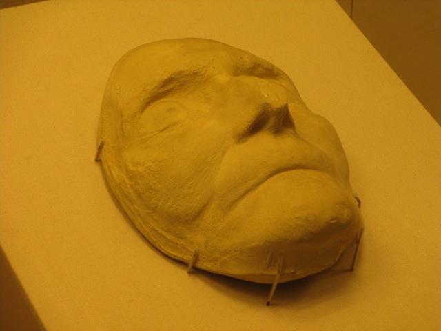 Christopher Wren's death mask.