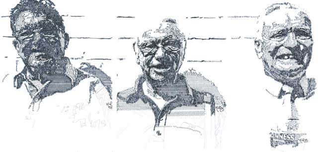 The 3 Muscateers. Typewriter art by Keira Rathbone 2013 all rights reserved.