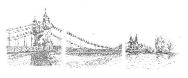 Why I Love Hammersmith Bridge in Under 100 Words, 2009. Typewriter art by Keira Rathbone 2013 all rights reserved.