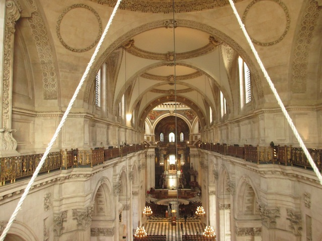 Looking down on the nave from the western end.