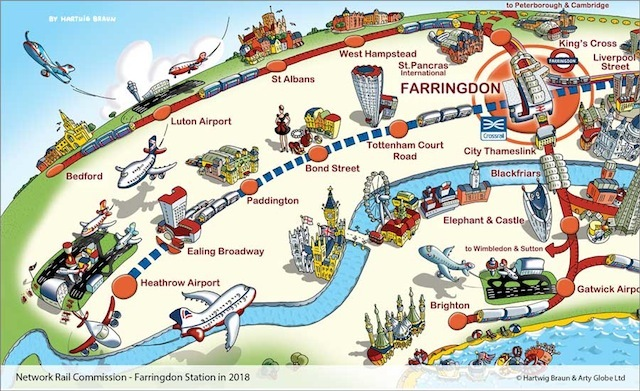 Farringdon In 2018 Mapped By Arty Globe