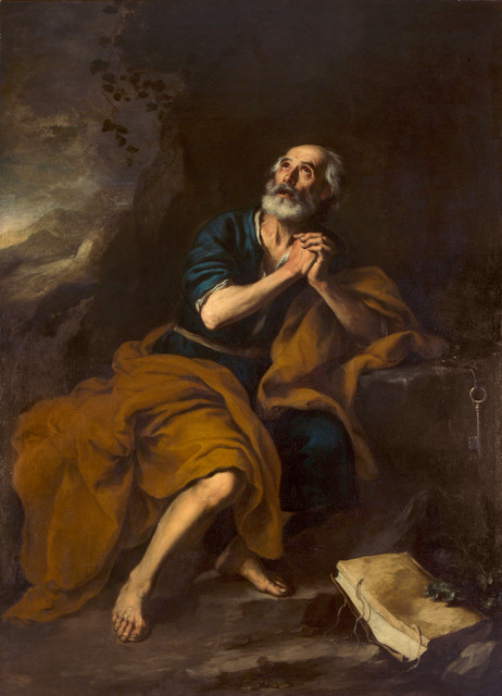 Bartolomé Esteban Murillo, The Penitent Saint Peter, c. 1670, Oil on canvas, 212 x 155 cm, Private Collection