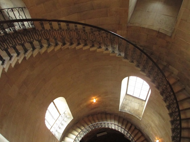 Spiral staircase, with an IMDB record longer than Michael Caine's.