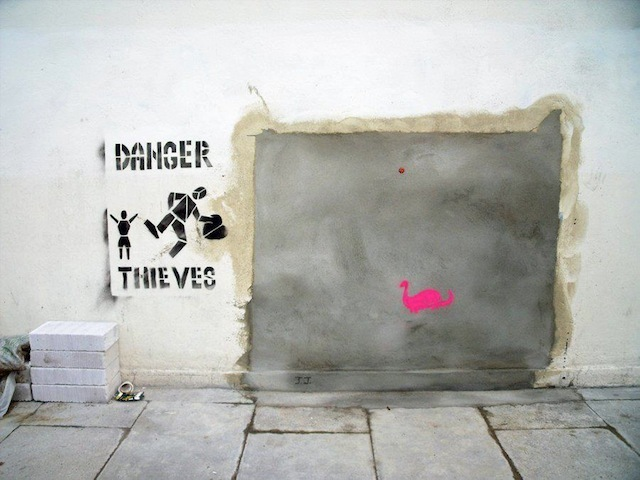 "Street Art Strikes Back Over Removal Of ""Slave Labour"" Banksy"