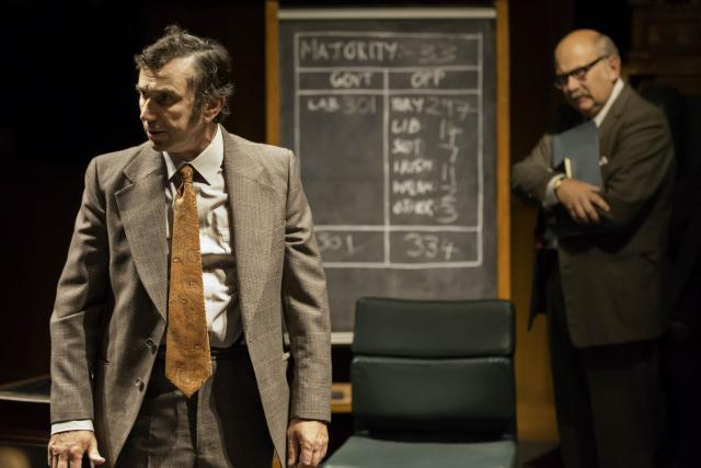 Phil Daniels as Bob Mellish, Vincent Franklin as Michael Cocks / photo by Johan Persson