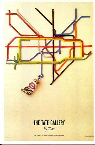 """Tate Gallery by Tube"", David Booth, 1986."