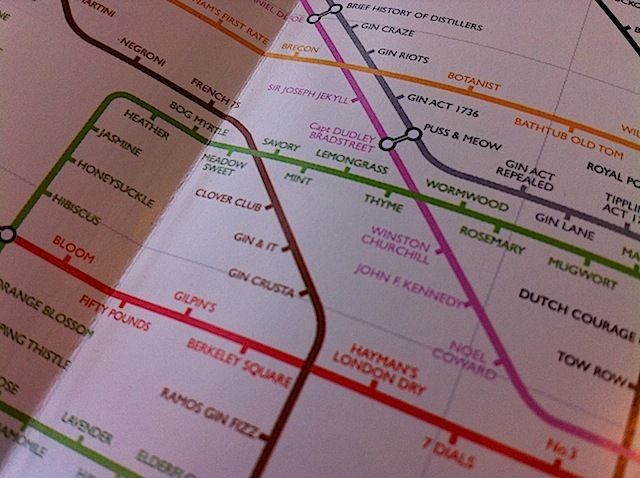 The Underground Map Of Gin