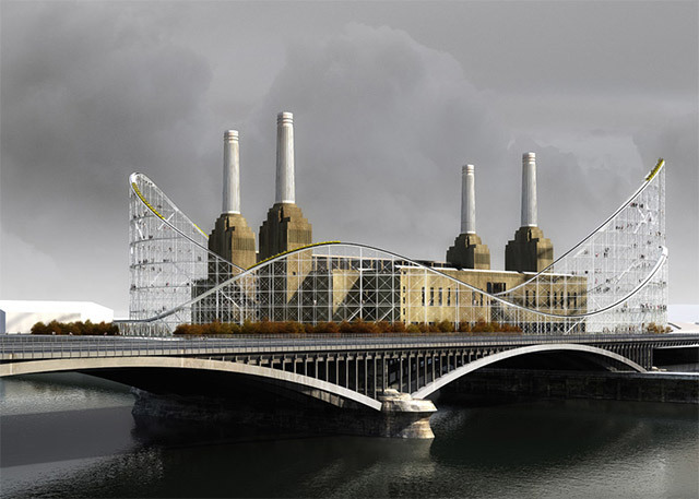 Battersea Power Station, Now With Added Roller Coaster