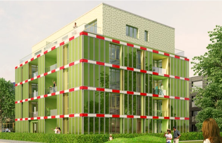 Algae powered house, designed by Splitterwerk Architects