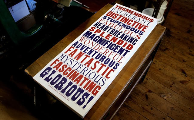 Anthony Burrill's Wilton's Print
