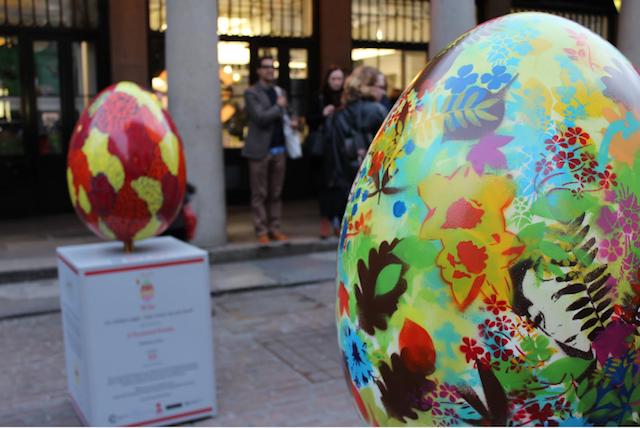 Giant Eggs Invade Covent Garden