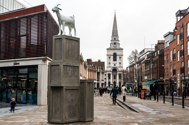 I, Goat, a statue in Spitalfields