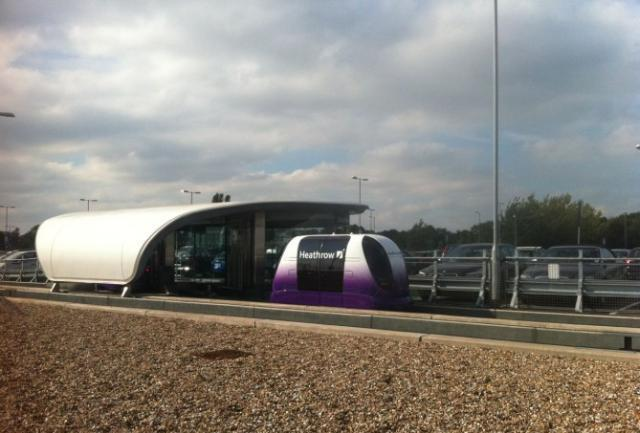Personal rapid transit pods at Heathrow, photo by James Upsher