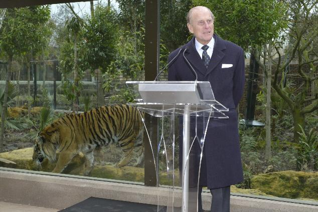 HRH The Duke of Edinburgh opened the new Tiger Territory earlier this week. © ZSL