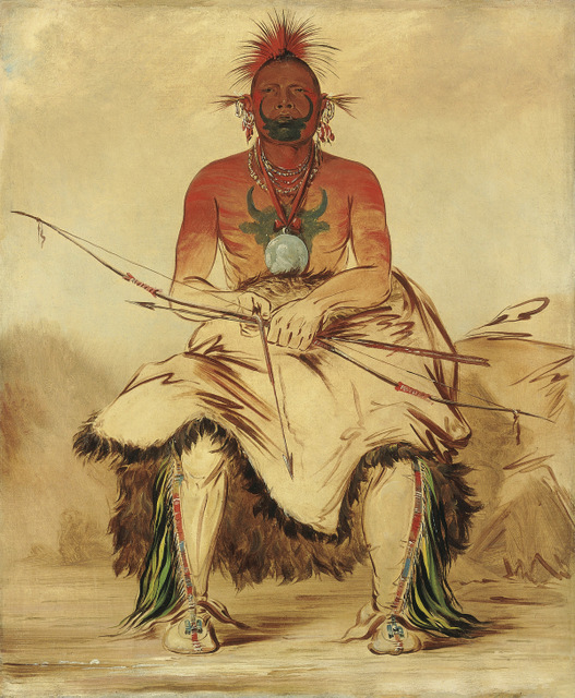 La-dóo-ke-a, Buffalo Bull, a Grand Pawnee Warrior Pawnee, by George Catlin, 1832. Copyright: Smithsonian American Art Museum