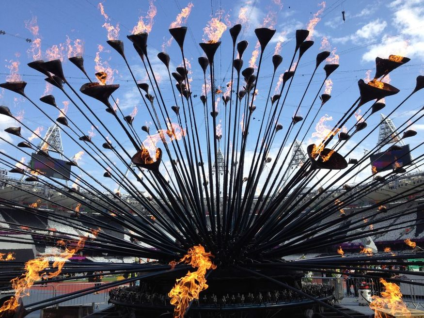 Olympic Cauldron Designed by Heatherwick Studio. Image courtesy Design Museum