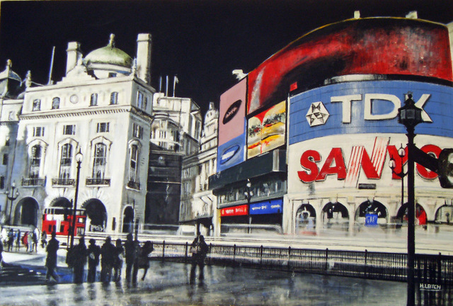 Piccadily Circus, London. Copyright Heather Leitch, Image courtesy Oxo Gallery.