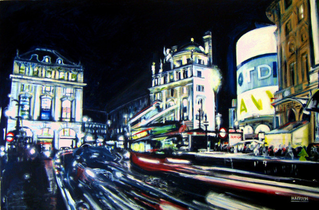 Piccadily Rush Hour, London. Copyright Heather Leitch, Image courtesy Oxo Gallery.