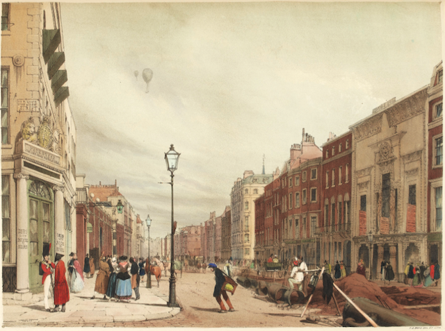 Thomas Shotter's view of Piccadilly, 1842. ©The Trustees of the British Museum.