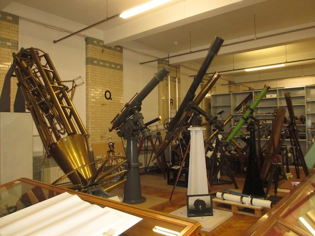Some of the largest objects in the store are these telescopes.