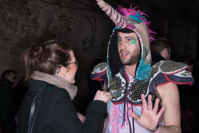 Emer Martin of the Evening Standard interviews a male unicorn.