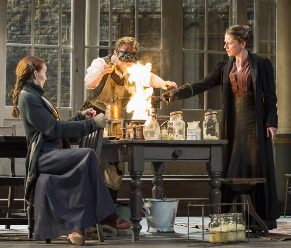 Emma Lowndes as Liza, Geoffrey Streatfeild as Protasov and Lucy Black as Melaniya. Photo by Richard Hubert Smith