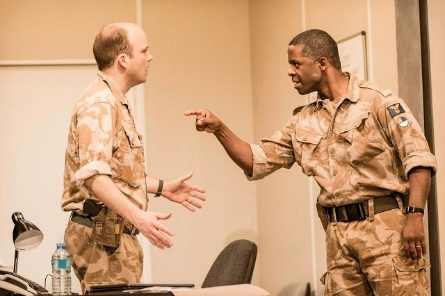 Cracks begin to show in Othello's reserve as Iago's (Rory Kinnear) poison takes hold