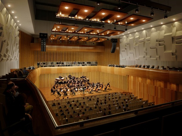 CGI of the beautiful Milton Court concert hall