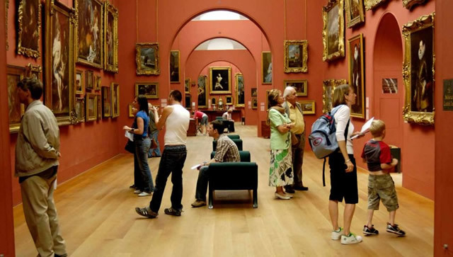 A busy day in the gallery's enfilade. Photo courtesy of Dulwich Picture Gallery