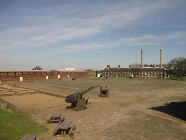 The drill yard.