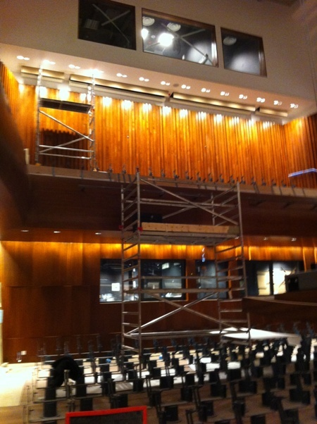 Getting there: inside Milton Court Concert Hall last week