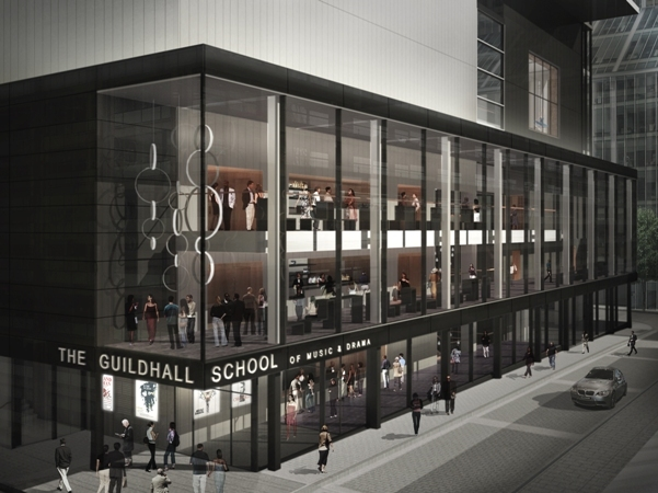 The Milton Court exterior come September, a new shop-front for the Guildhall School