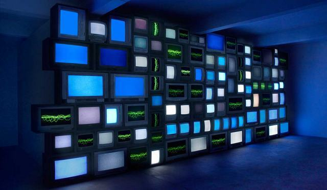 Susan Hiller, Channels, 2013. Installation photograph by Peter White courtesy the artist, Timothy Taylor Gallery and Matt's Gallery, London.
