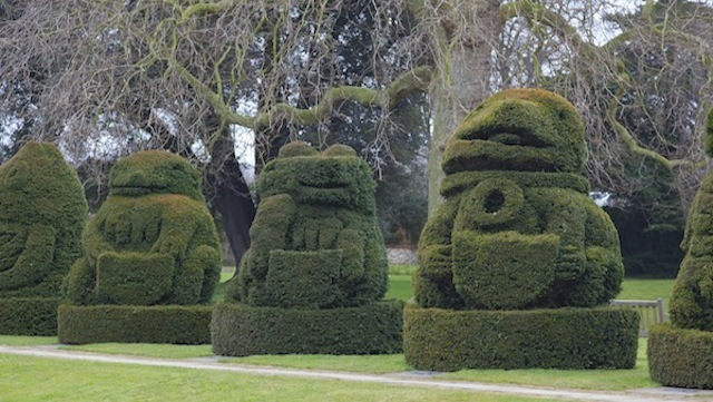 The Queen's Beast's Topiary Lawn, Hall Place (Credit: Bexley Heritage Trust)