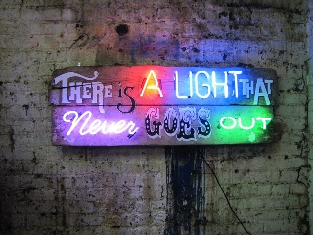 Chris Bracey, There Is A Light That Never Goes Out. Image courtesy Scream London.