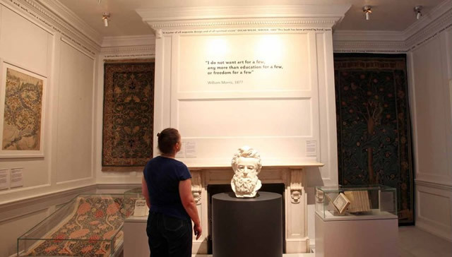 Displays at the William Morris Gallery. Photo courtesy of the William Morris Gallery