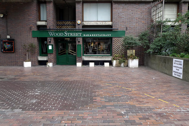 Wood Street restaurant. It originally opened as a pub, the Crowders Well (here's a photo)