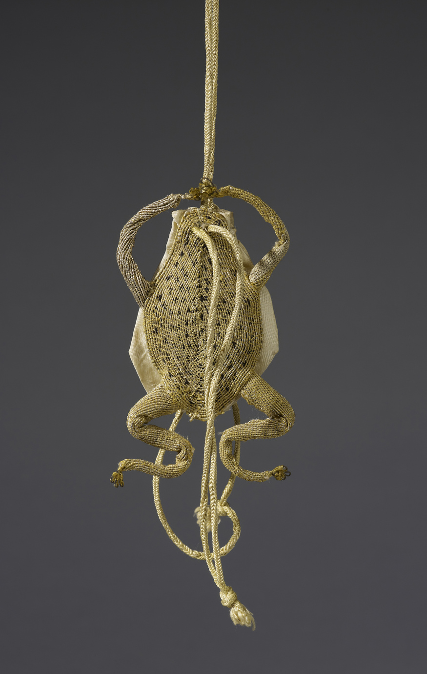 Gold thread and yellow taffeta purse in the shape of a frog, 17th century  Royal Collection Trust / (C) Her Majesty Queen Elizabeth II 2013.