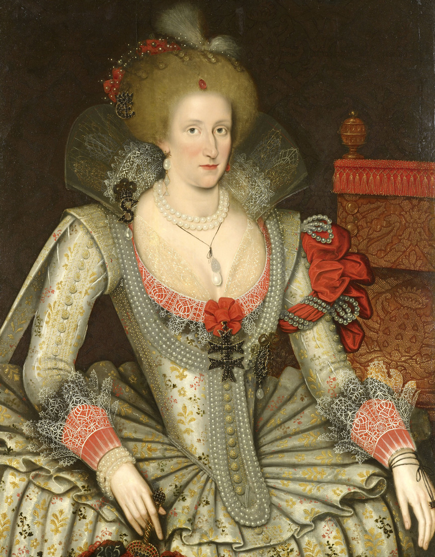 Attributed to Marcus Gheeradts the Younger, Anne of Denmark, 1614  Royal Collection Trust / (C) Her Majesty Queen Elizabeth II 2013.