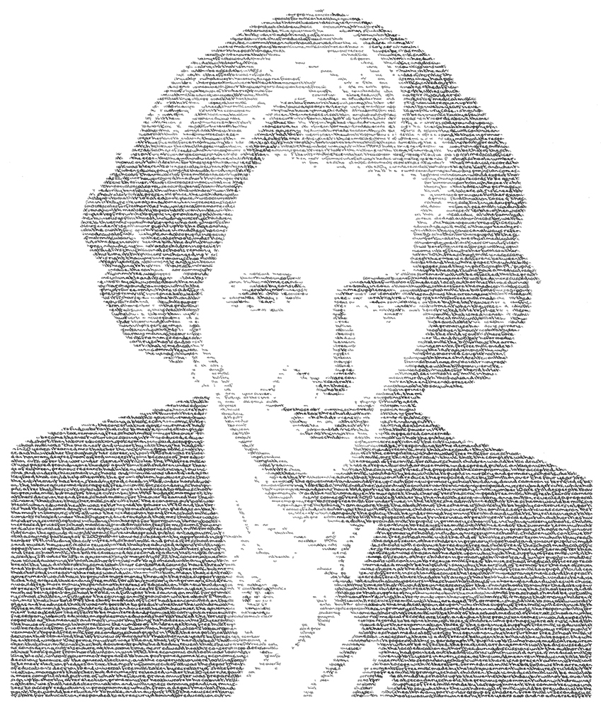 Annemarie Wright, Margaret Thatcher - the iron Lady. Image courtesy of the artist