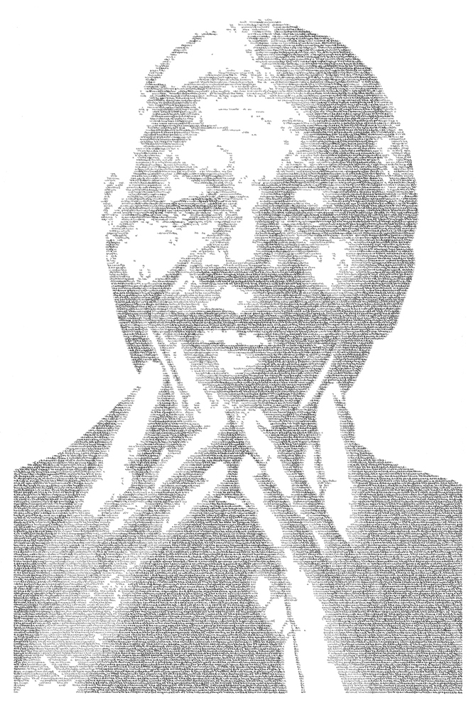 Annemarie Wright, Nelson Mandela - Long road to freedom. Image courtesy of the artist