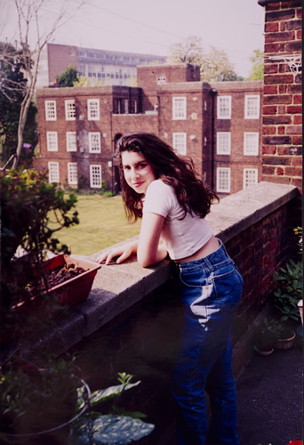 A young Amy outside her Nan's flat in Southgate. Photographer unknown © The Winehouse family