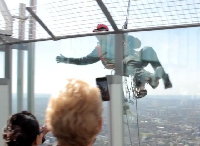 Cleaning Windows At The Top Of The Shard