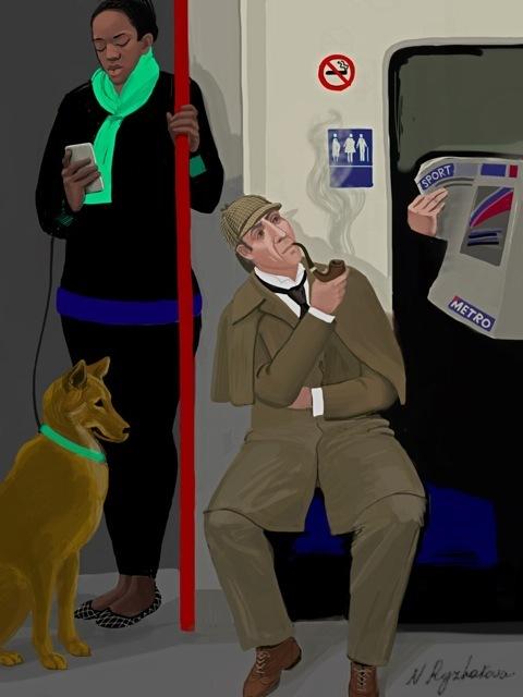 Sherlock on the Tube.