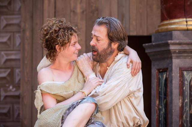 Jessie Buckley as Miranda and Roger Allam as Prospero / photo by Marc Brenner