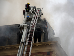 Fire fighters tackle a blaze in Bayswater, Westminster earlier this year