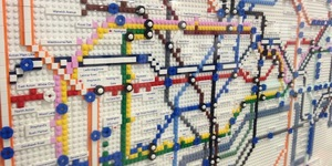 See A Tube Map Made From LEGO