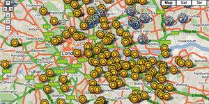 Map Of V2 Rocket Strikes On London, Updated