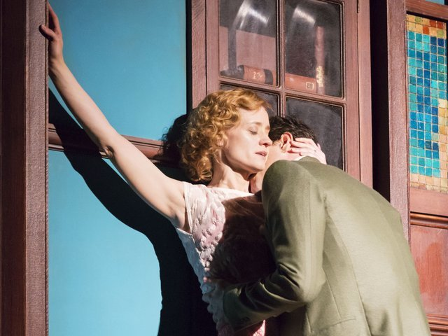 You don't get this on the NHS: Nina Leeds (Anne Marie Duff) and her doctor lover Edmund Darrell (Darren Pettie).